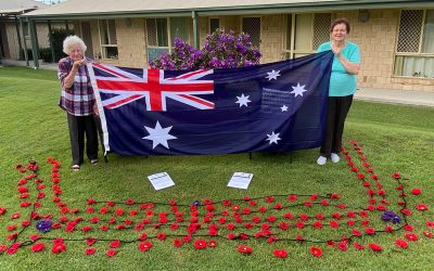 Residents come together to commemorate Anzac Day.